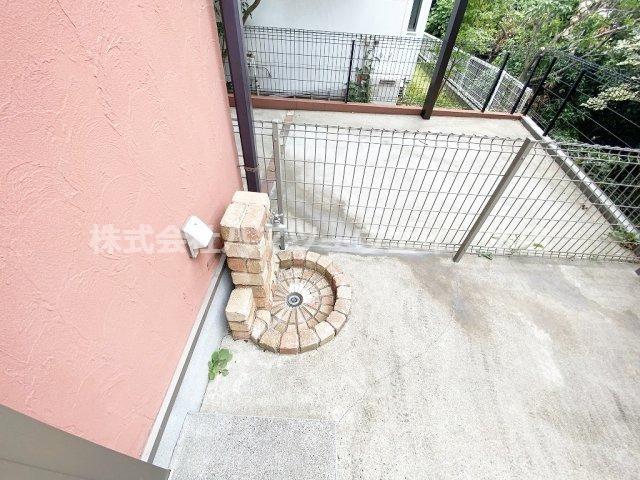 お庭にある立水栓