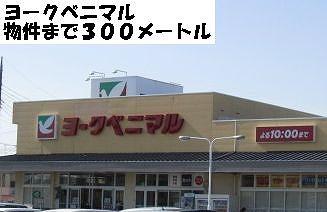 スーパー「ヨークベニマルまで300m」ヨークベニマルまで300m
