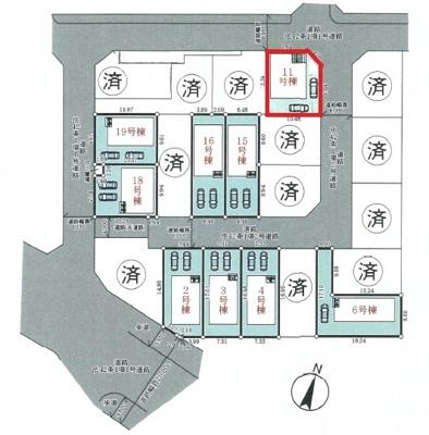【区画図】神戸市垂水区青山台5丁目 11号棟 新築戸建