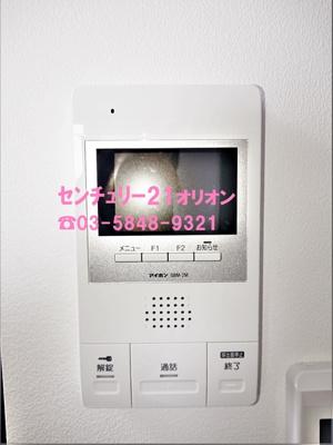 TVモニター付きオートロック室内モニター