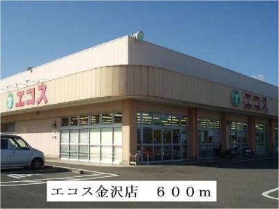 エコス金沢店まで600m