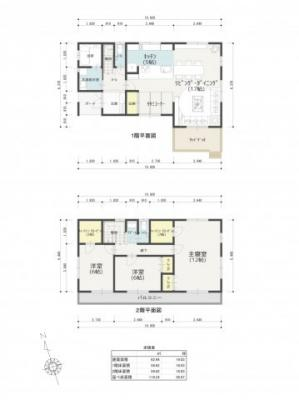 本図は、各区画に一般的な建物を配置した際に、建物の配置と駐車場の関係、又は区画周辺の空間等を確認して頂くために作成したものです。