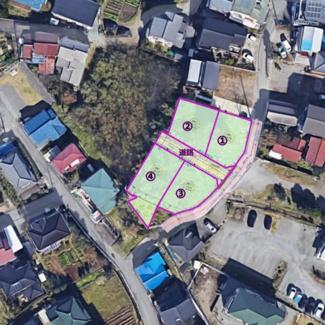 【地図】裾野市佐野山神分譲地 区画2
