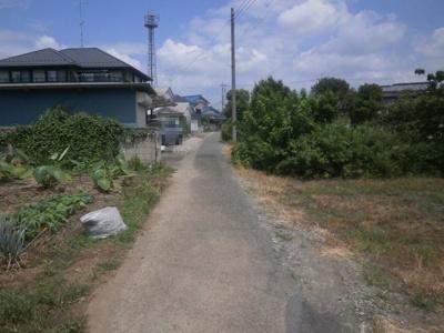 【前面道路含む現地写真】熊谷市久保島 280万 土地