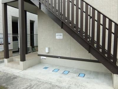 外階段です。