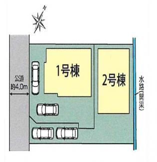 【区画図】三島市南二日町 新築戸建 全2棟 (1号棟)