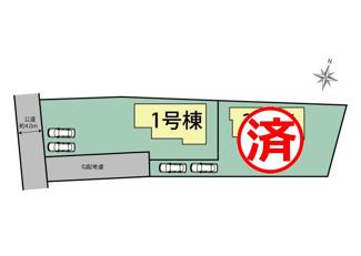 【区画図】三島市中 新築戸建 全2棟 (1号棟)