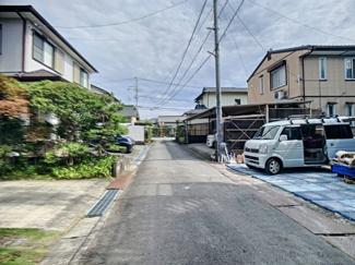 【前面道路含む現地写真】三島市大場 新築戸建 全1棟 (1号棟)