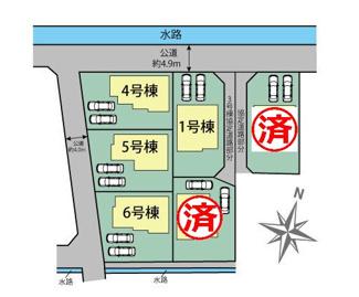 【区画図】三島市徳倉3丁目 新築戸建 全6棟 (1号棟)