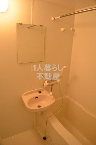 バスルームには浴室乾燥機がついています