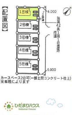 【区画図】神栖市深芝南20-2期 新築戸建 1号棟