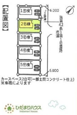 【区画図】神栖市深芝南20-2期 新築戸建 2号棟