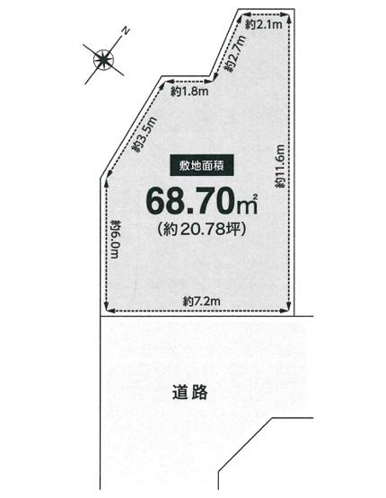 【土地図】永楽荘3丁目建築条件無売地