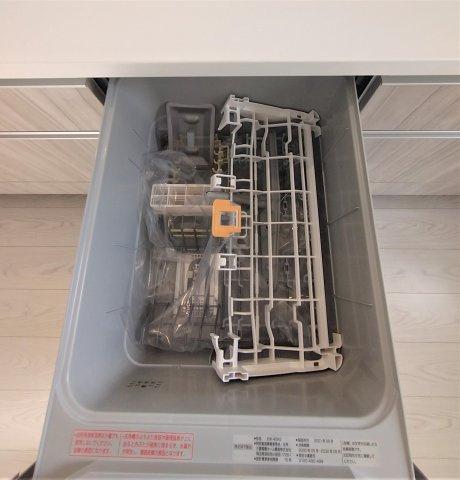 多くの食器が洗えて節水効果もある、ビルトインタイプの食器洗い乾燥機付き!家事時間の短縮ができます♪