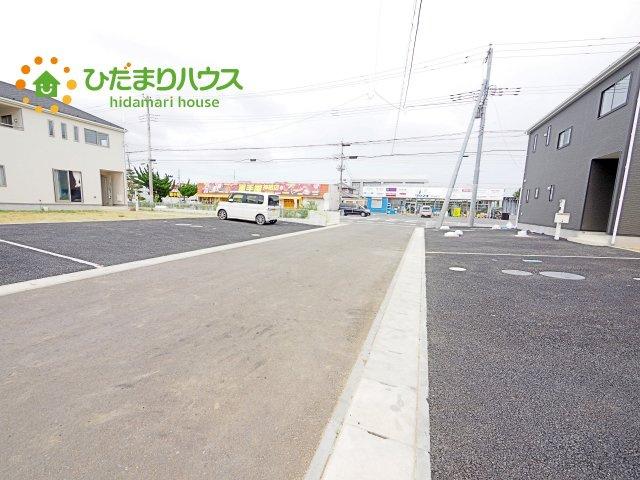 【前面道路含む現地写真】神栖市知手中央第8 新築戸建 5号棟