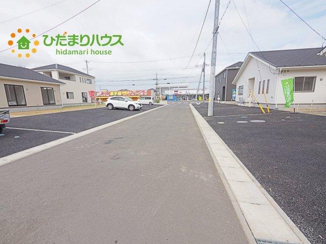 【前面道路含む現地写真】神栖市知手中央第8 新築戸建 6号棟