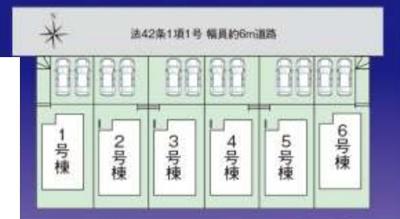 【区画図】ファーストタウン京都市第1伏見区深草大亀谷古御香町