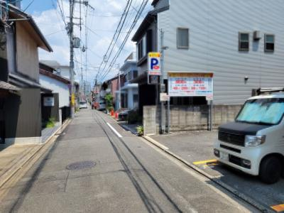 【前面道路含む現地写真】下京区上三之宮町 建築条件無し 売土地