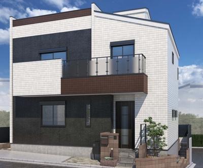 【外観パース】練馬区練馬2丁目 新築戸建 9980万円
