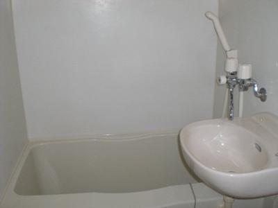 洗面台付バスルーム。