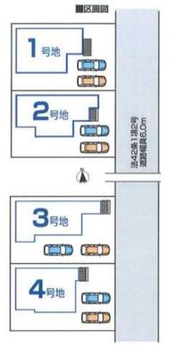 【区画図】ファーストタウン大和高田市第6東三倉堂町