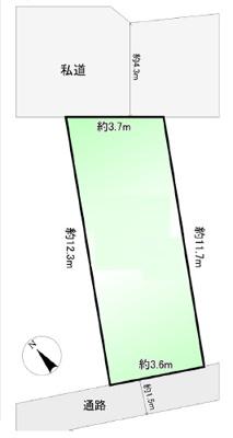 【区画図】文京区目白台1丁目 新築戸建 8080万円