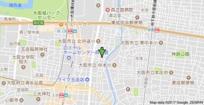 【地図】セオリー大阪城サウスゲート