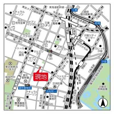 【地図】エスポワール新橋