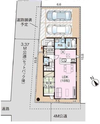 【区画図】鴻巣市雷電~新築一戸建住宅~《限定1棟》