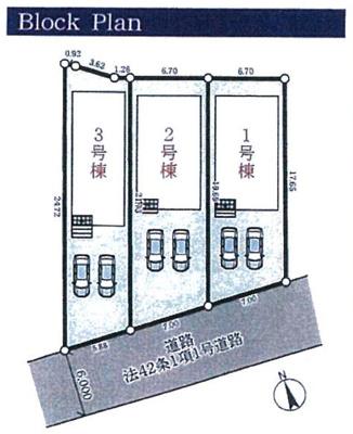 【区画図】多井田新築一戸建 2号地