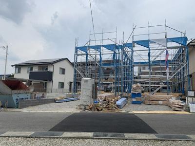 【前面道路含む現地写真】多井田新築一戸建 2号地