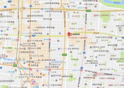 【地図】プレミアム松屋町