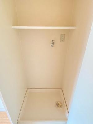 室内洗濯機置場、扉付きです