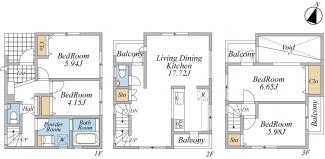 A-type(建物面積:97.17平米・建物価格:2080万円)