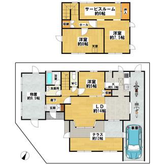 ■ハウスメーカー施工の軽量鉄骨造 ■南東×南西の角地 ■現在室内改装工事中