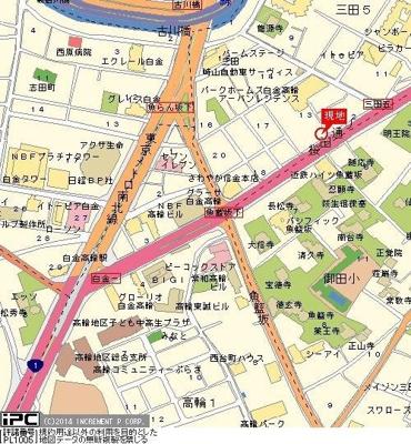 【地図】ルーブル白金高輪