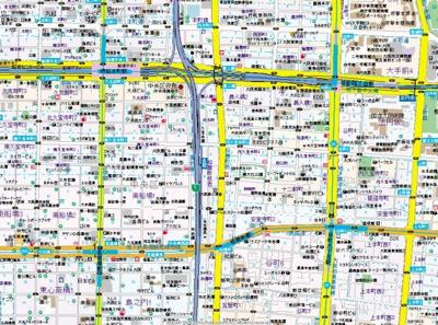 【地図】ユーカ心斎橋東