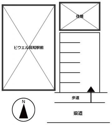 【区画図】北本町3丁目(ビウェル高知駅前東横:尾崎)パーキング