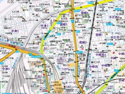 【地図】ライブコート北梅田