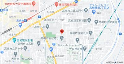 【地図】ルネ高槻 ㈱Roots