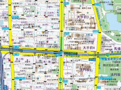 【地図】S-RESIDENCE Hommachi Marks