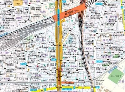 【地図】ラクラス新大阪