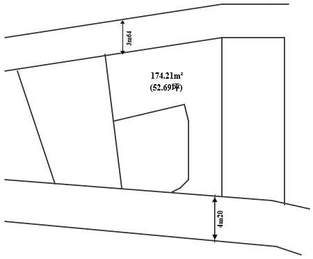 【土地図】自社物件 府中市押立町4丁目(全1区画)