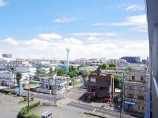 バルコニーから南側の眺望