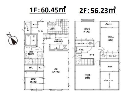 1号棟:4LDK 35坪