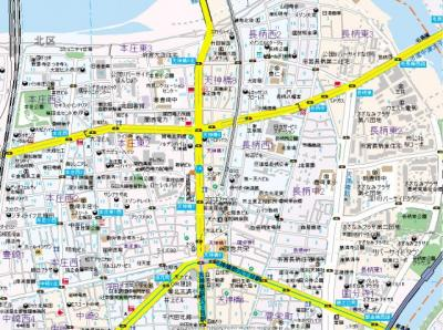 【地図】グリッドコート天神橋