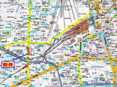 【地図】エスリード福島駅前