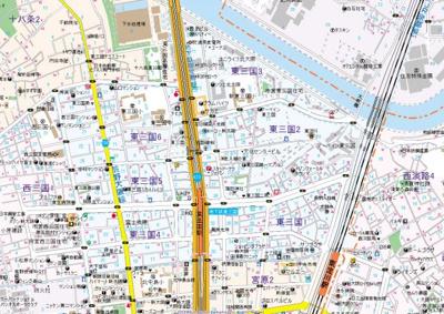 【地図】アドバンス新大阪ラシュレ