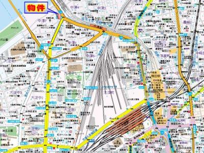 【地図】セレニテ中津