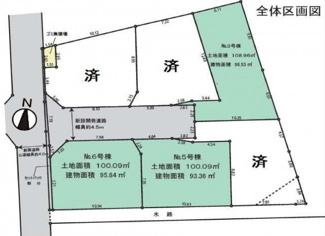 【区画図】寒川町一之宮3丁目 新築戸建 全6棟3号棟